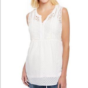 Motherhood maternity lace sleeveless blouse